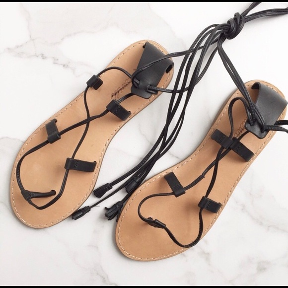 79d94e466a4 Madewell Shoes - Madewell Boardwalk NWOT Lace Up Sandals Gladiator